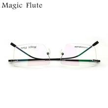 2017 New Arrival optical eyeglasses rimless frame with flex for women or men prescription eyewear Frame M6015