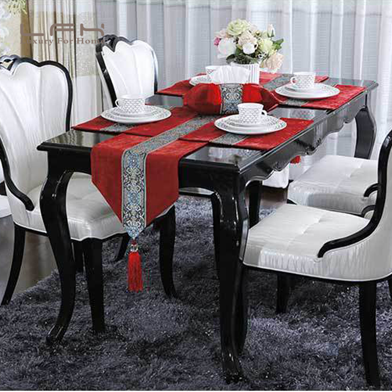 European table dining table mats set Chinese table flag coffee ...