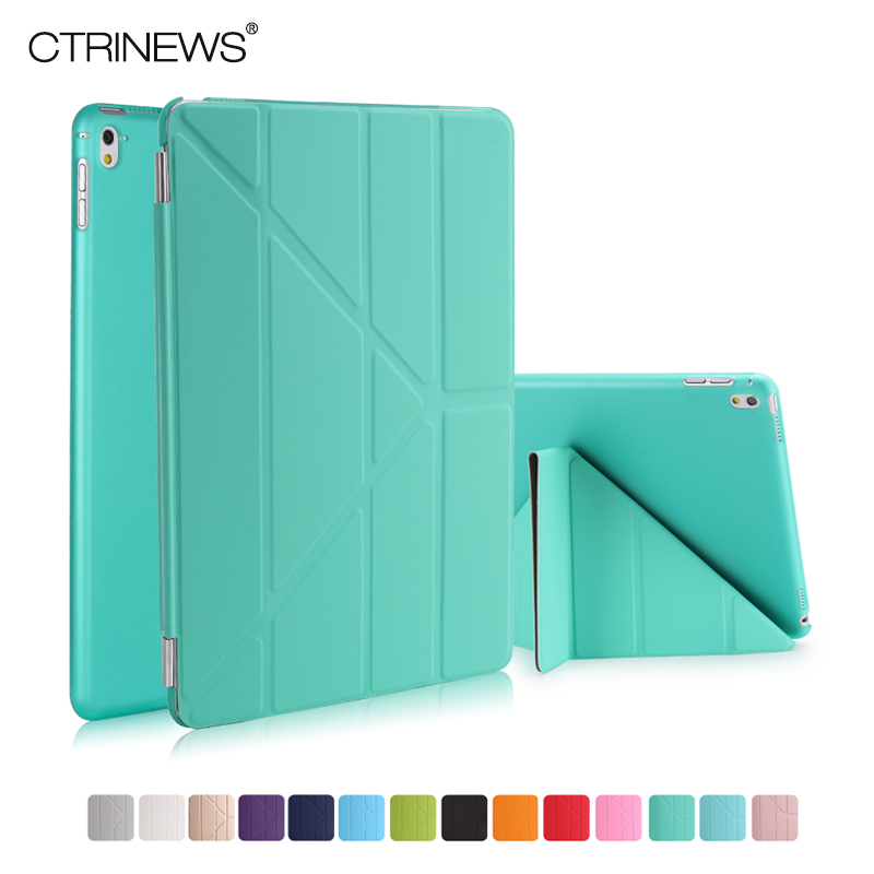 CTRINEWS For Apple iPad Pro 9.7 Tablet Case Smart Leather Cover flip Case For iPad Pro 9.7 inch PC Back Cover Wake Up /Sleep surehin nice smart leather case for apple ipad pro 12 9 cover case sleeve fit 1 2g 2015 2017 year thin magnetic transparent back