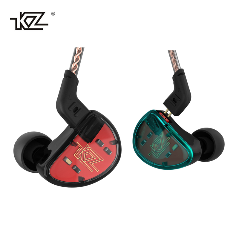 KZ AS10 Balance Armature Unit In-Ear Earphone Subwoofer Stereo Sport Headset Noise Cancelling HIFI Detachable Earbuds with mic kz zs6 eight driver earphone 2dd 2ba dynamic and armature in ear hifi stereo sport headset detachable bluetooth upgrade cable