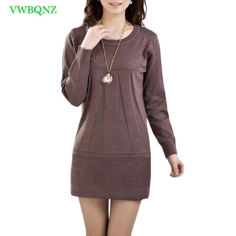 Autumn Winter Middle-aged Women O Collar Sweater Plus Size Loose Long Sweater Women's Hedging High Collar Sweater Shirt 3XL A518