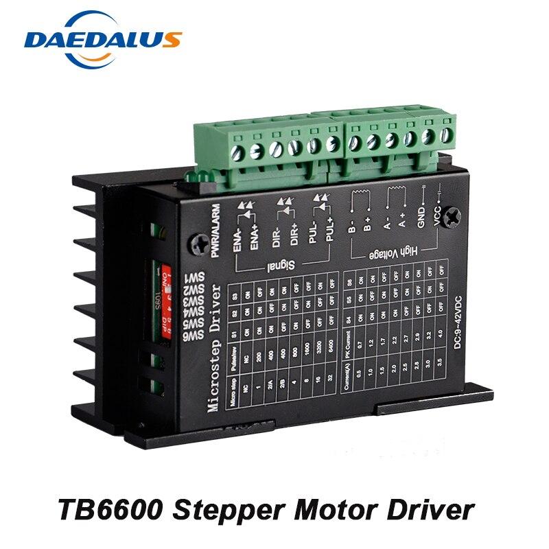 42/57 TB6600 4A CNC Controller DC 9-42V Stepper Motor Driver Nema 17 Two Phase Hybrid Stepper Motor