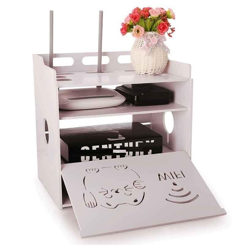Décoration routeur Europe blindage WIFI salon cabinet prise couverture plateau piles de stockage rack TV set-top box