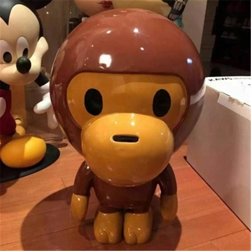 50CM Street Art OriginalFake Medicom Toy KAWS Q Version Monkey PVC Action Figure Collection Model Toy G1219 102cm street art medicom toy dissection super mario cosplay kaws pvc action figure collection model toy g1203