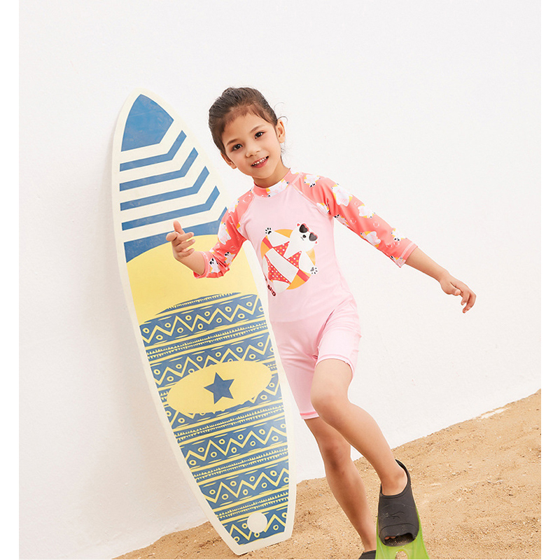 Swimsuit For Children Sexy Bikini Kids Junior Girls Swimwear Summer 2018 New Girl Long Sleeve Zipper Sun 28031 Animal Polyester