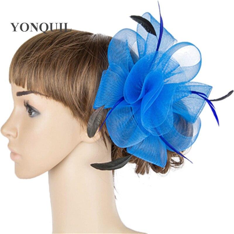 Multiple color crinoline fascinator headwear colorful mesh wedding headpiece red bar hair accessories suit for all season MYQ038 headpiece