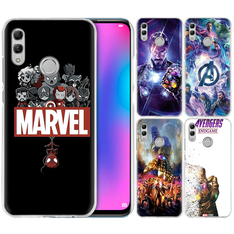 Marvel Avengers Comics Case for Huawei Honor 8X Y9 20 9 10 Lite Play 8C 8A Pro V20 20i Y6 Y7 Y5 2019 Hard PC Fundas Phone Cover image