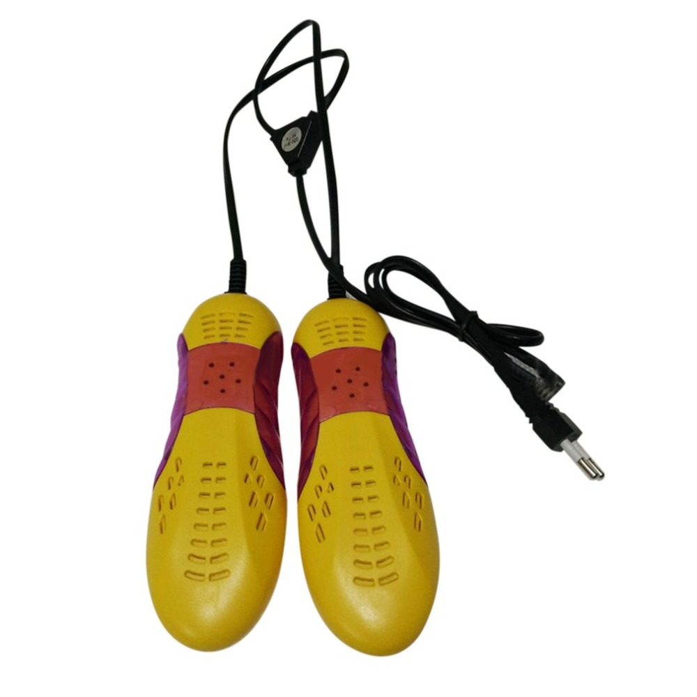 Race Car Shape Violet Light Shoe Dryer Foot Protector Boot Odor Deodorant Dehumidify Device Portable Shoes Drier Heater