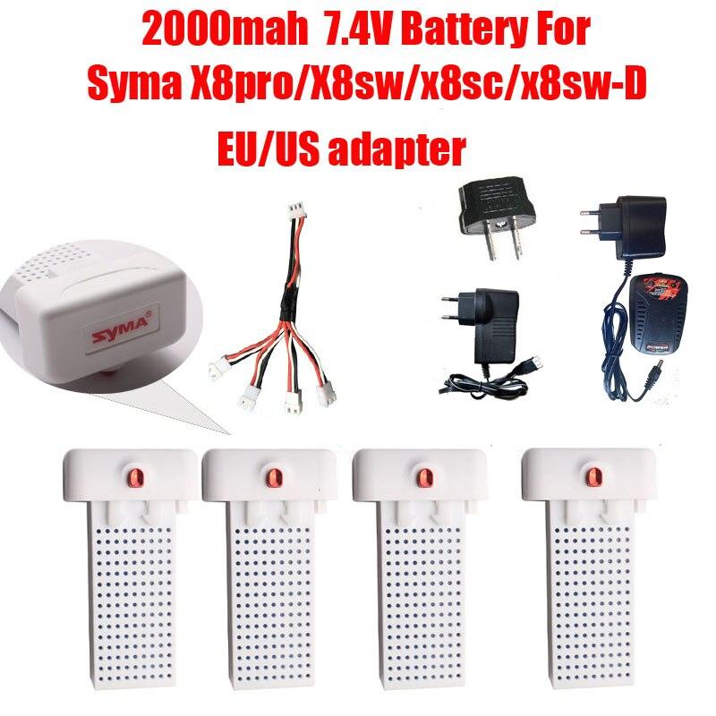 Li-Po LiPo 7.4V 2000mAh Original Akku für Syma X8PRO X8SW X8SC Pro RC Drone