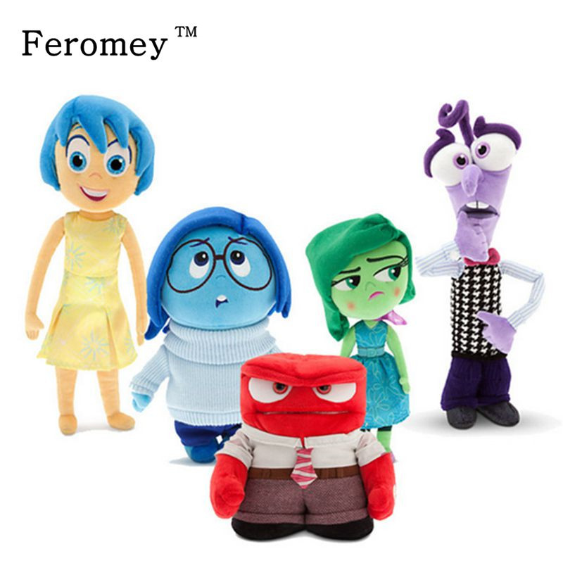 цена на Big Size Inside Out Plush Doll Toys Sadness Fear Joy Disgust Anger Soft Stuffed Toys Doll Kids Children Gift Inside Out Toys