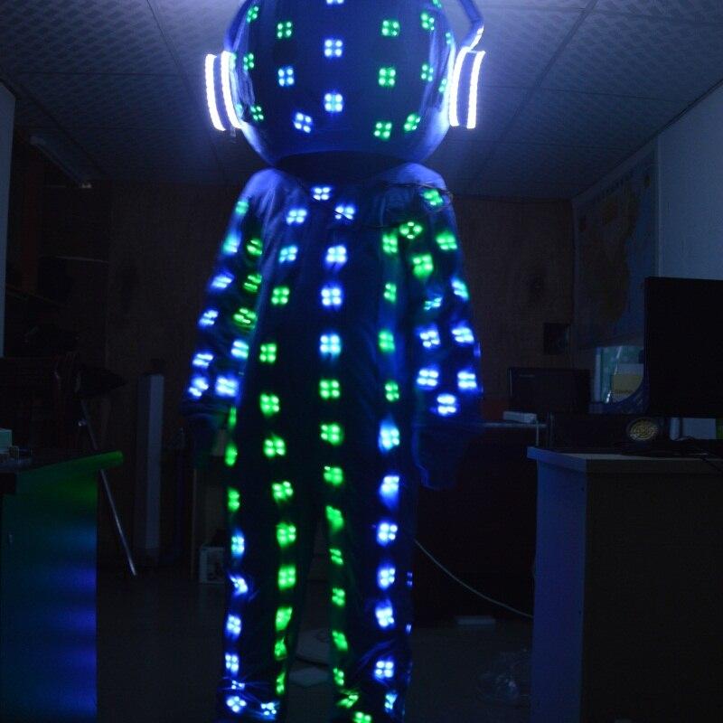 Aliexpress.com Comprar Hanfeng Algodón Flashing LED Que Brilla  Intensamente Del Traje/LED Ropa/trajes de Luz/LED trajes de Robot/robot/led  trajes trajes de