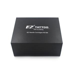 Image 1 - 100 חתיכות מגוון EZ מחסנית קעקוע מחטים עם 4 שחור חד פעמי צינורות 2 מחט קעקוע מחטי מחסנית