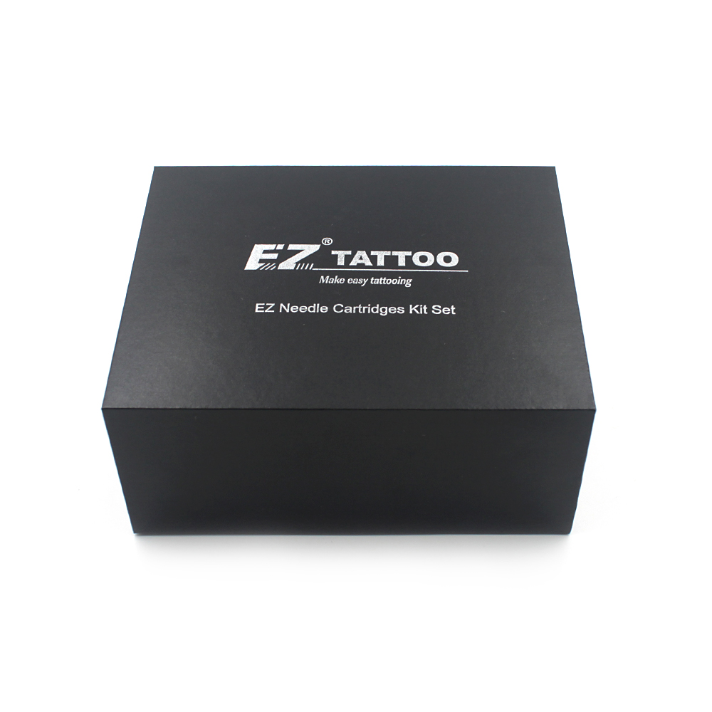 100 pièces Assorties EZ Cartouche Aiguilles De Tatouage Avec 4 Noir Tubes Jetables et 2 Barres À Aiguilles De Tatouage Aiguilles Cartouche