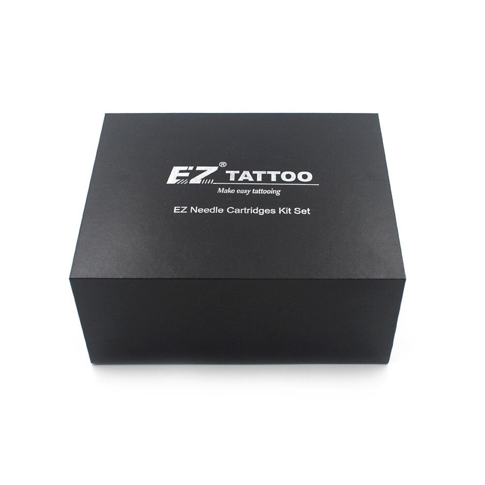 Agujas de tatuaje de cartucho EZ surtidos de 100 piezas con 4 tubos desechables negros y 2 barras de aguja cartucho de agujas de tatuaje-in Agujas de tatuaje from Belleza y salud    1