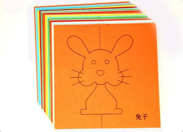 48 шт./компл. детская цветная одежда с героями мультфильмов для складывания бумаги и резки игрушки/Детская kingergarden искусство ремесла Сделай Сам развивающие игрушки WYQ