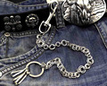 Mens Simple Basic Silver Tone Ring Biker Trucker  Jean Wallet Chain pants chain