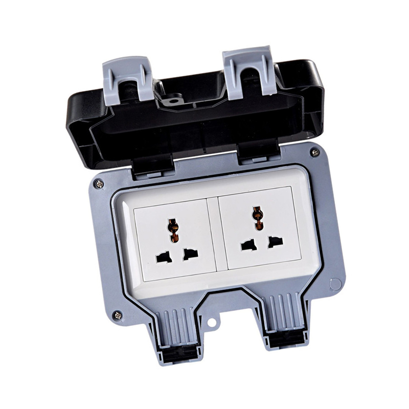 Ip66 Waterproof Wall Switch Socket Two Multi Functionthree