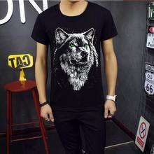 fashion Men s 3D T shirt 2017 Summer style T shirt Men s 3D wolf head