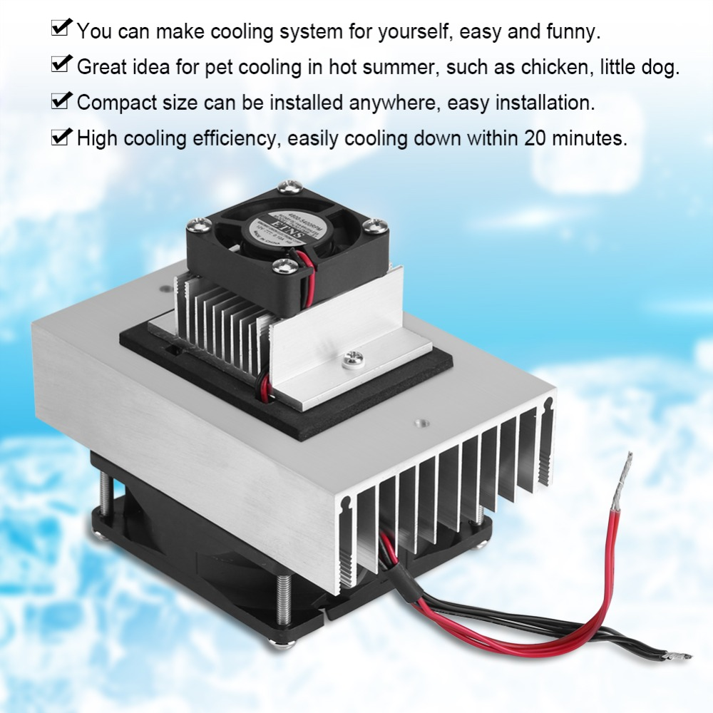 Tool Parts Semiconductor Refrigeration Cooling Device Thermoelectric Cooler 14A 12V DIY Mini Fridge Tools Part
