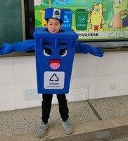 Переработка мусорный бак талисман костюм дети размер отходов пепельница мусорное ведро реклама маскарадные костюмы на Хэллоуин