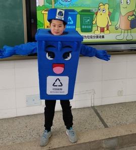 Recycle Trash Can Mascot Costume Kids Children Size Waste Ash Bin Garbage Can Advertising Mascotte Halloween Fancy Dress Kits