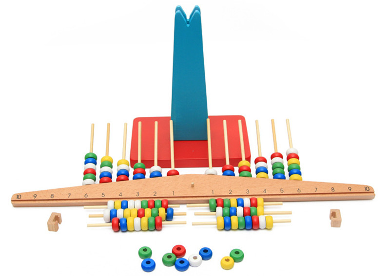 New Wooden Toy Montessori Baby Toy Arithmetic balance Early Educational Toys Baby Gifts