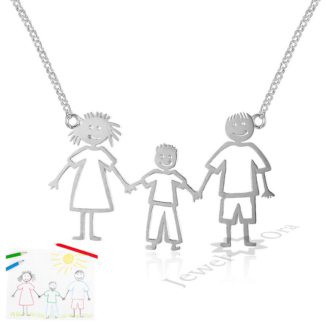 Personalized necklaces 925 sterling silver engraved necklaces diy personalized necklaces 925 sterling silver engraved necklaces diy personalized jewelry family children mother pendants necklace aloadofball Image collections