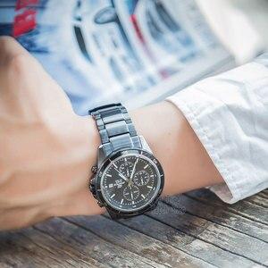 Image 4 - Casio Edifice horloge heren top luxe set 100m waterdichte lichtgevende chronograaf heren horloge militaire quartz polshorloge F1 Racing Element Sporthorloges Zwarte ionen vergulde serie relogio masculino reloj hombre