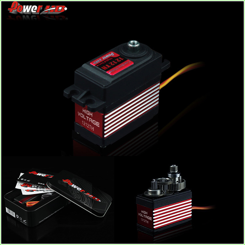 1pcs Power HD Digital Servo HD-1212TH 14kg/ 57g 7.4V High Voltage with 7075 Titanium Gears