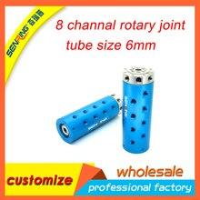 Rotary conjunta 8 canal de anel deslizante para hidráulica médio