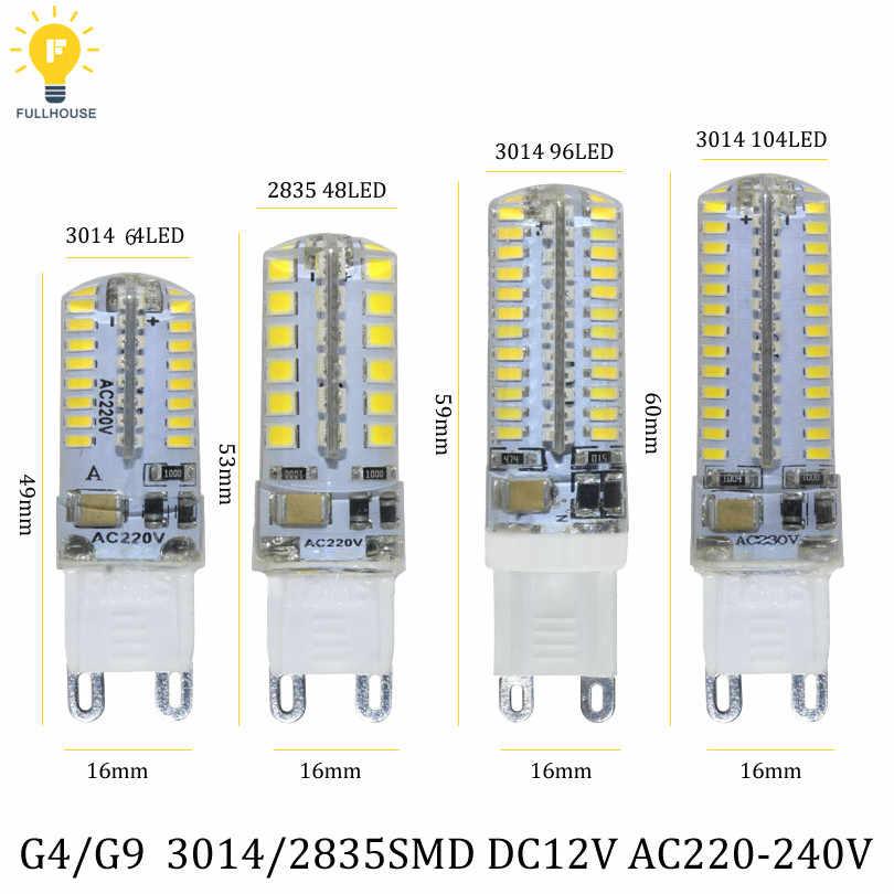 Лучшее качество G4 Светодиодный светильник SMD2835 3014 12 В постоянного тока 220 В 3 Вт 6 Вт 9 Вт 10 Вт 12 Вт Диммируемый светодиодный светильник Kronleuchter Lichter Erset