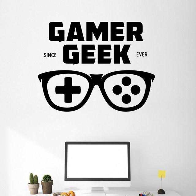 game handle glasses sticker gamer decal gaming posters gamer vinyl