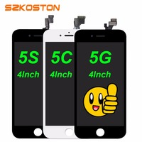 10PCS LOT Quality A For IPhone5S 5 5G LCD Touch Screen Digitizer Assembly Black White Color