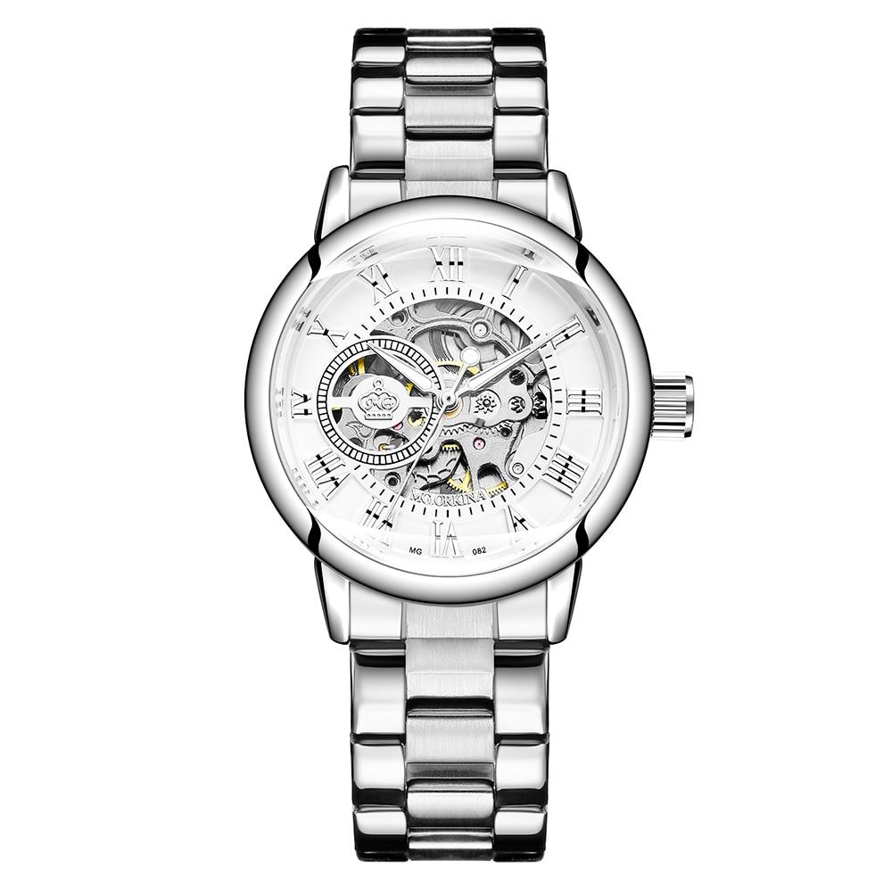 New Fashion Luxury Brand Skeleton Women Mechanical Watch Watch Women Automatic Mechanical Watches For Women Montre Femme