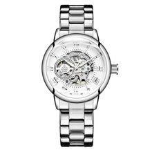 新ファッション高級ブランドスケルトン女性機械式時計時計女性自動機械式腕時計女性のためのmontreファム