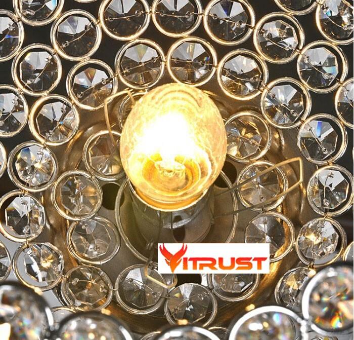 Design moderne permanent étage lampes art déco cristal lampadaire