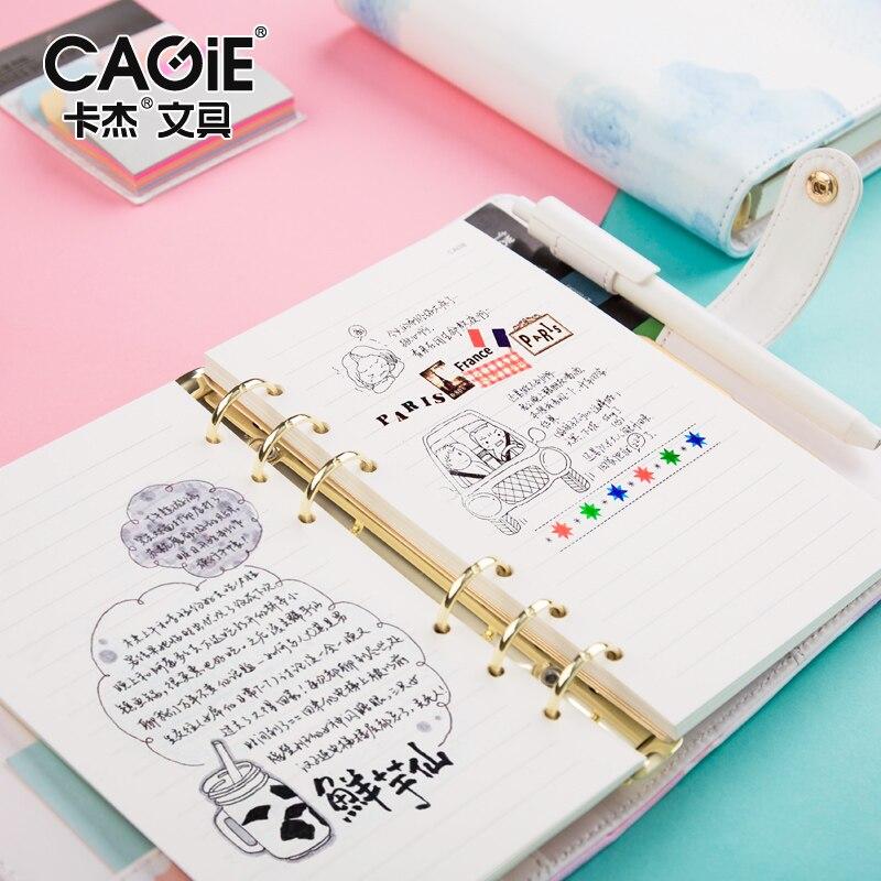 CAGIE a6 Binder Kawaii Notebook Leather Cute Planner Refiller - notebook binder