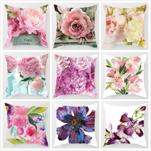 Euro Style Home Decor Cushion Cover Rose Flower Throw Pillow C for sofa Mediterranean style pillow case Mothers Day