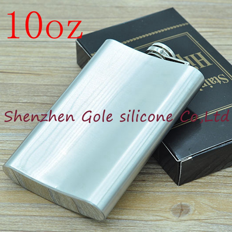 200pcs 10oz Stainless Steel Pocket Flask Russian Hip Flask Male Small Portable Mini Shot Bottles Whiskey Jug Small Gifts For Man