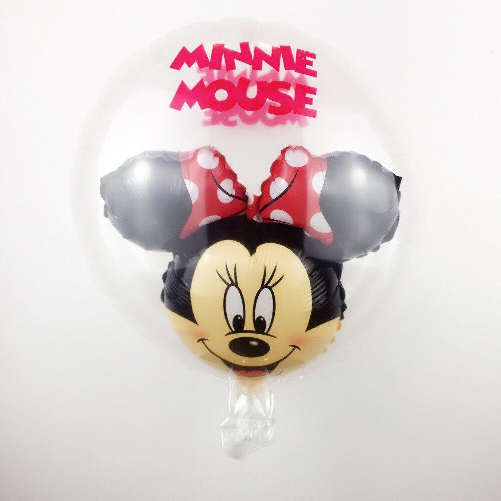 Free Shipping 18nch round transparent Mickey Minnie alum balloon children's toys
