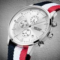 Accurate Travel Time MEGIR Men Discount Sports Watches Men S Quartz Hour Date Clock Nylon Strap