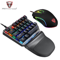 Motospeed K27 V30 For PC Gamer Computer Game Mechanical Gaming Keyboard And Mouse Set With Backlight Kit Keybord USB Mini Keypad