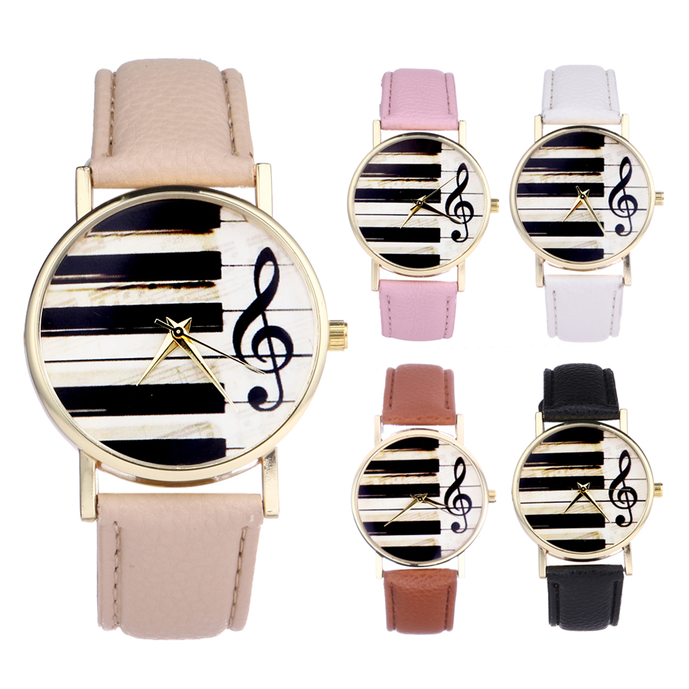 New Design Piano Black White Keyboard Watch Women Musical Note Watches Men Casual Clock montre femme акустика центрального канала heco music style center 2 piano white ash decor white