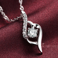 AGOOD Collier Femme Fashion 925 sterling silver rhinestone Necklaces & Pendants Collares for Women Mujer Accessories Jewelry