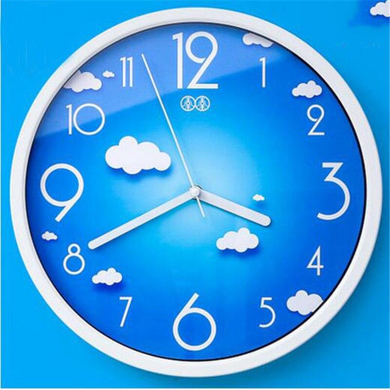 Cute Big Wall Clock Silent Watch Kids Children Room Livingroom Bathroom Applique Murale Wrought