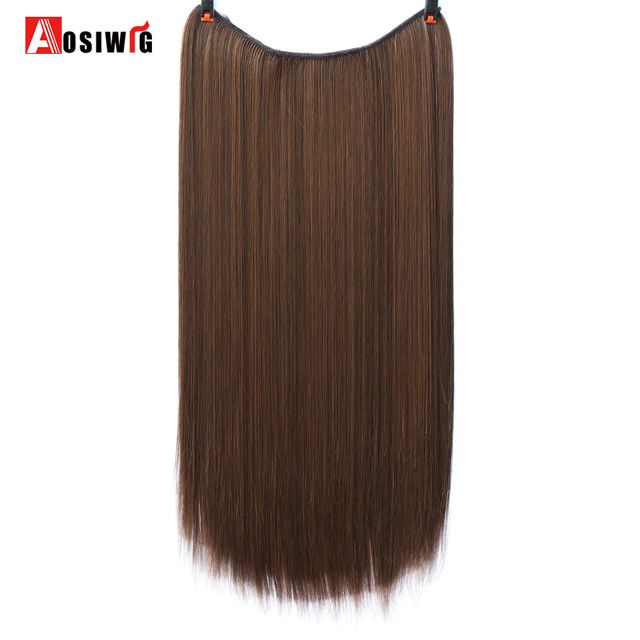 22 Long Wavy Invisible String Flip On No Clip In Hair Extensions