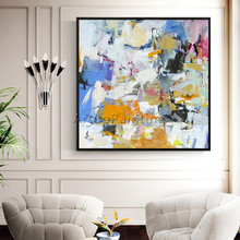 Canvas painting caudros decoracion abstract acrylic painting wall Art pictures for living room home decor quadros abstract color цена