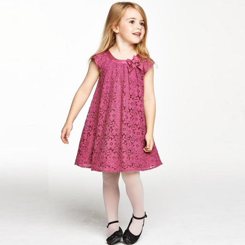 girls dress new sleeveless knee-lengt children 's clothing European and American girls lace dress 2 3 4 5 6 7 years old children s spring and autumn girls bow plaid child children s cotton long sleeved dress baby girl clothes 2 3 4 5 6 7 years