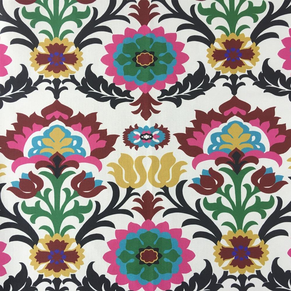 Colorat Damask Floral Stripe Digital Print Fabric Tapițerie Tapițerie Sofa Fotoliu Decorativ Stofă 140cm Lățime Vindem prin metru