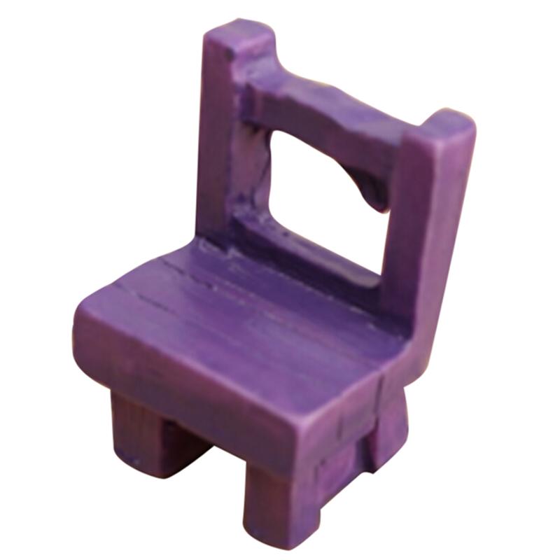 casa de muecas en miniatura muebles de jardn sillas de hadas